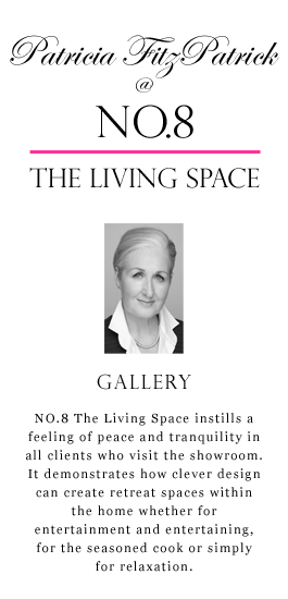 NO.8 The Living Space instills, in all clients who visit, a feeling of peace and tranquility and shows how clever design can create retreat spaces within the home whether for entertainment and entertaining, for the seasoned cook or simply for relaxation.
